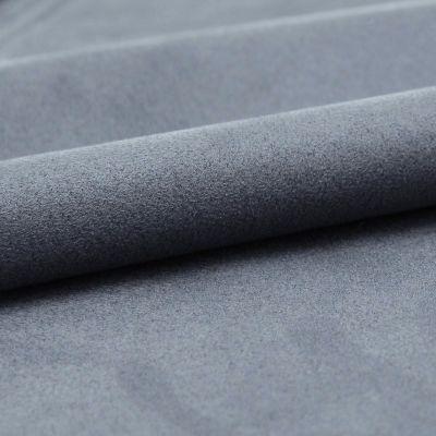 Tissu microfibre bleu imitant le daim