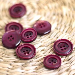 fantasy button - wine red