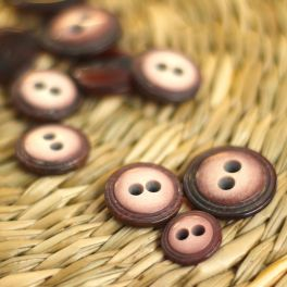 Round resin button - rosewood