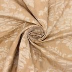 Polyester fabric with golden pattern