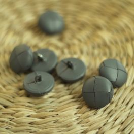 Resin button - grey