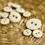 Boutons en résine gris chiné