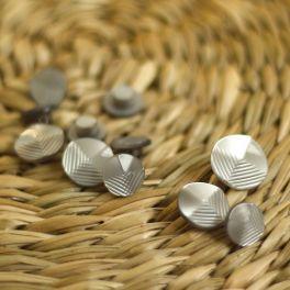 Resin button - metallic grey