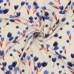 Tissu en viscose imprimé tulipes