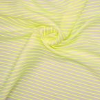 Striped fabric in linen and cotton - neon yellow