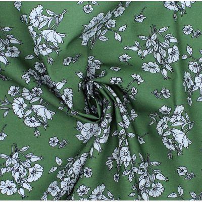 Fabric cretonne with palm trees design