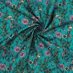"""Cotton printed with """"foliage and animals"""""""