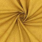 Coton imprimé moutarde et camel