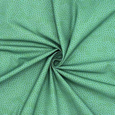 Coton imprimé vert sauge et gazon