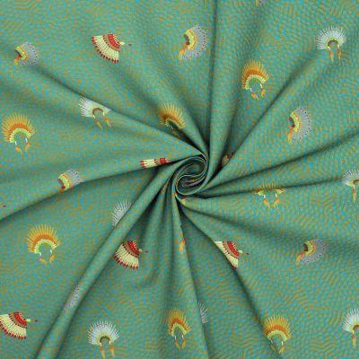 Coton imprimé coiffe indienne
