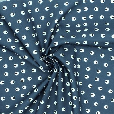 Printted cotton - navy blue background