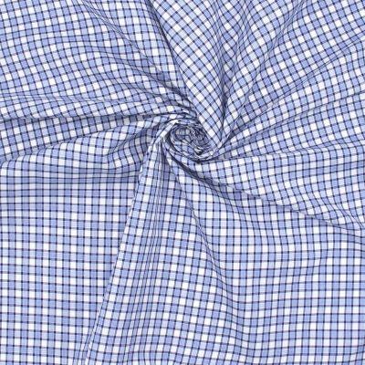 Checkerd cotton - blue and white