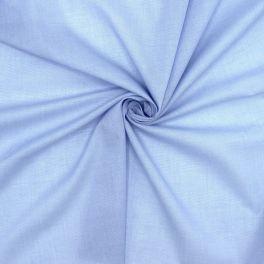 Tissu en coton léger bleu
