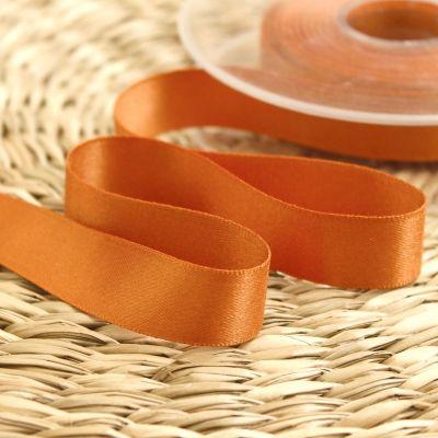 ruban satin orange cuivré