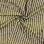 Checkerd taffeta - green and beige