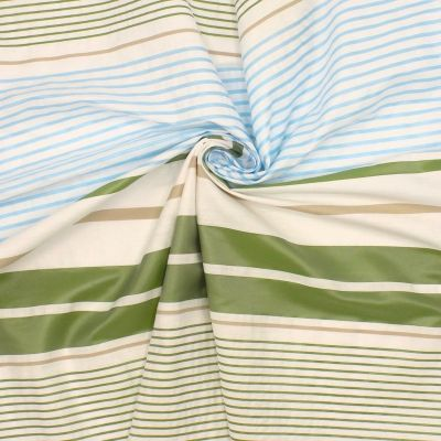 Taffeta with blue and green stripes