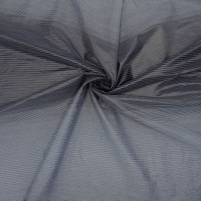 Taffeta with blue stripes