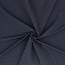Stof met crêpe aspect - marineblauw