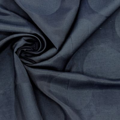 Apparel fabric with dots - navy blue