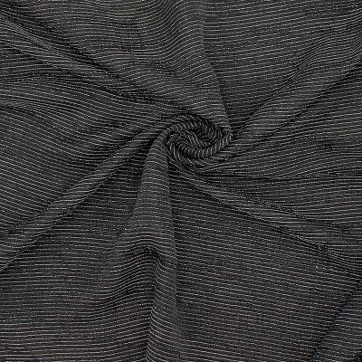 Striped apparel fabric - black