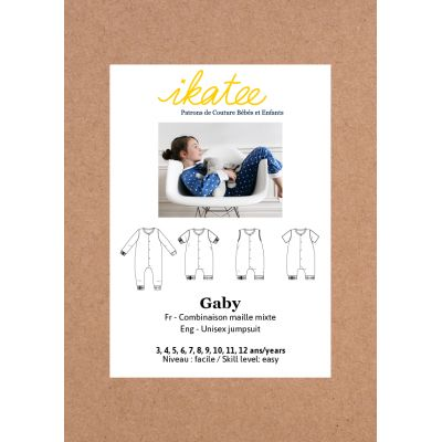 Patron Combinaison pyjama Gaby 3-12 ans