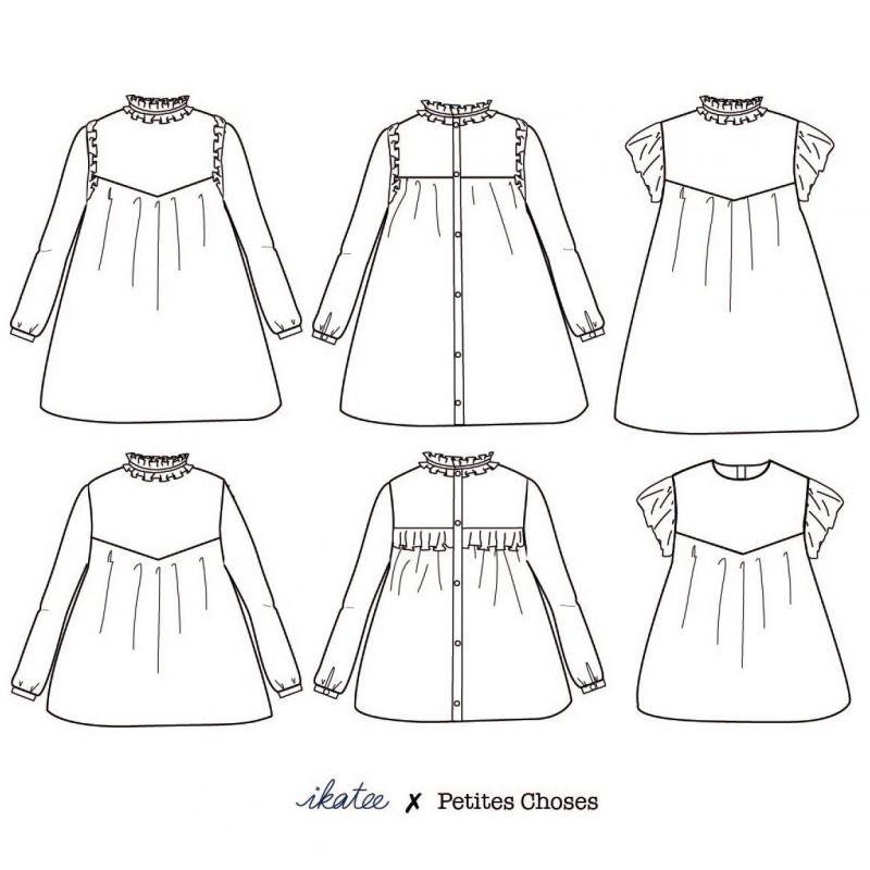 Patron blouse ou robe Louise