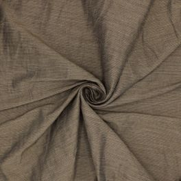 Tissu taupe à fines rayures