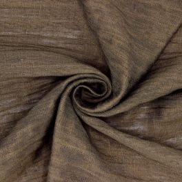 Fabric in linen and viscose - brown
