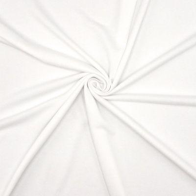 Tissu maille type polo blanc