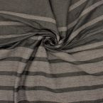 Tissu vestimentaire gris à rayures