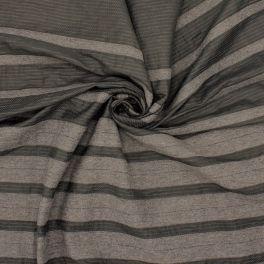 Kledingstof met strepen - grijs