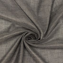 Fabric with thin stripes - silver grey