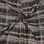 Tissu gris et noir à carreaux