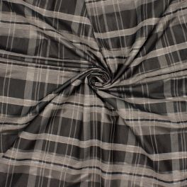 Checkerd fabric  - grey and black