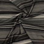 Tissu gris et noir à rayures