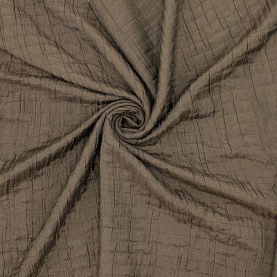 Tissu effet double gaz brun