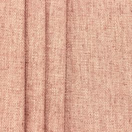 Double-sided fabric with linen aspect - old pink