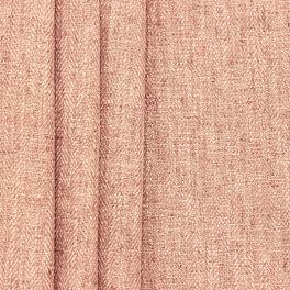 Tissu double face aspect lin vieux rose