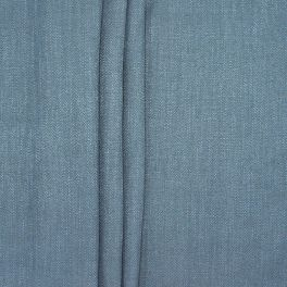 Double-sided fabric with linen aspect - denim blue