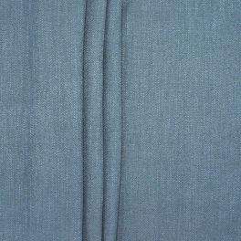 Tweezijdig stof met linnen aspect - jeansblauw