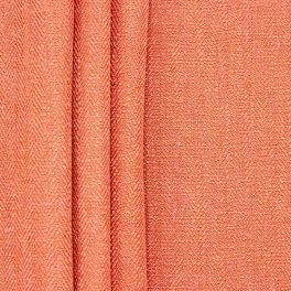 Double-sided fabric with linen aspect - coral