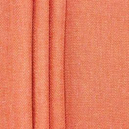 Tweezijdig stof met linnen aspect - koraal
