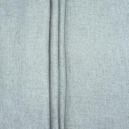 Tissu double face aspect lin gris