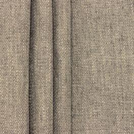 Tweezijdig stof met linnen aspect - taupe