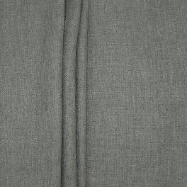 Double-sided fabric with linen aspect - dark grey