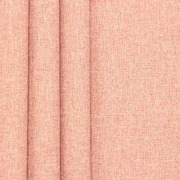 Tissu double face aspect lin rose