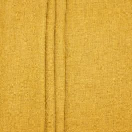 Double-sided fabric with linen aspect - mustard yellow