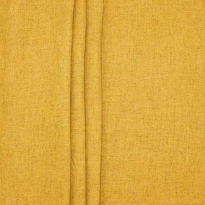 Tweezijdig stof met linnen aspect - mosterdgeel