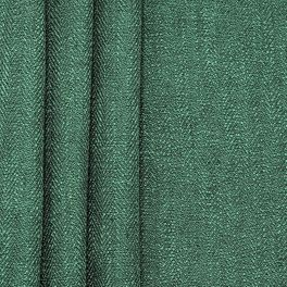 Double-sided fabric with linen aspect - bottle green