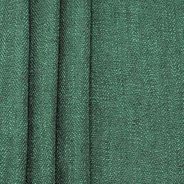 Tissu double face aspect lin vert bouteille